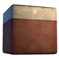 Plaster Brick Wall Red Tones