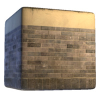 Plaster With Tall Brick Base Texture