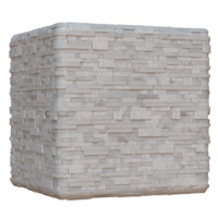 White Granite Brick Wall