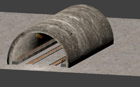 tunnel railway 3d fbx