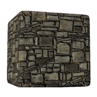Brick Diagonal Slate Gray