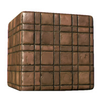 Brick Rectangle and Square Pattern