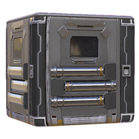 Metal Sci Fi Prison Door