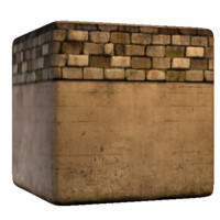 Brick with concrete base