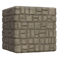 Large Cracked Ground Bricks