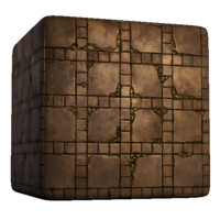 Large and Small Square Tile Old