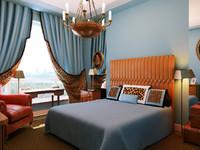 interior master bedroom 3d model
