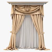 curtain draperies 3d max