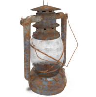 3d oil lantern rust