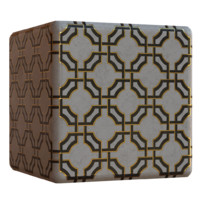 Interlocked Marble Tile with Gold