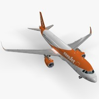 sharkleted airbus a320neo easyjet 3d max