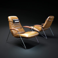 3d model brazilian-lounge-chair-carlo-hauner