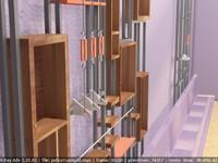 modern shelving 3d max