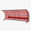 soccer bench 3D models