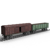freight railroad rails 3d 3ds