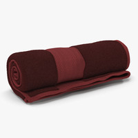 rolled towel red 3d model