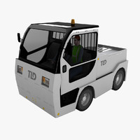 3d model tld jet-16 baggage tractor