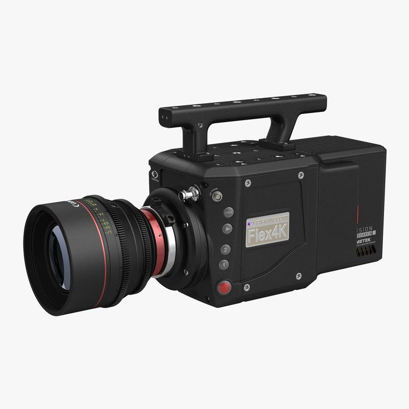 High Speed Digital Camera Phantom Flex4K 3d model  01.jpg