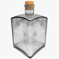 3d vintage bottle glass model