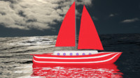 Sailingboat Red
