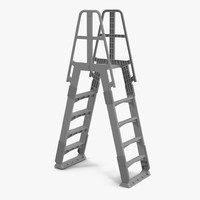 3d model of double sided step ladder