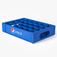 3d model pepsi crate plastic