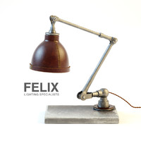 Felix, Hand Moulded Leather Desk Lamp