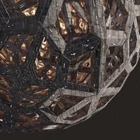 3d model metal planet