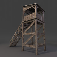 Medieval Wooden Guard Tower