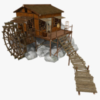 Watermill (Low Poly)