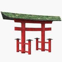 3d torii gate