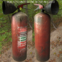 rusty extinguisher 3d max
