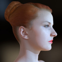 3d realistic female head realtime