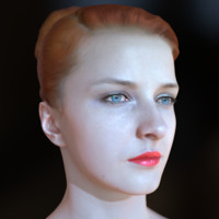 realistic female head realtime 3d model