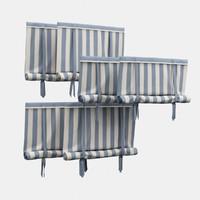 3d model roman roller shades