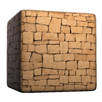 Sandy Brick Wall clean