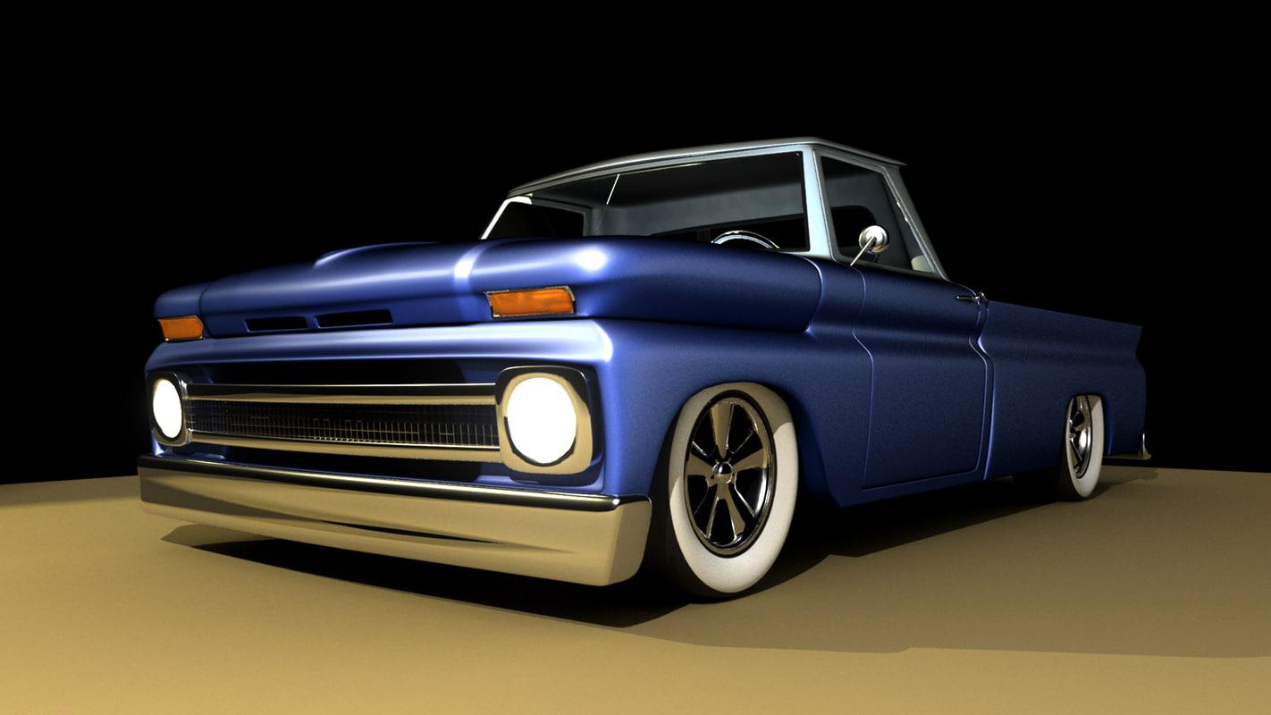 3d 1964 chevy truck model. Black Bedroom Furniture Sets. Home Design Ideas