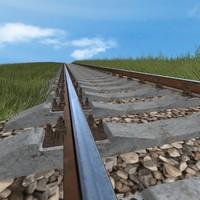 3d railway road