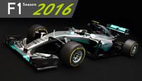 F1 Mercedes AMG W07 2016