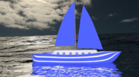 Sailboat Blue
