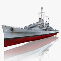 3d model uss san juan cl-54