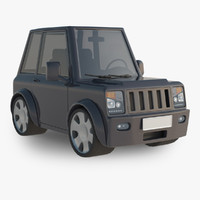 cartoon car suv 3d model