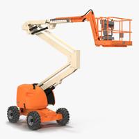 telescopic boom lift generic 3d model