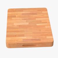 3d chopping board model