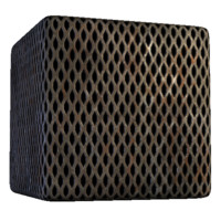 Diamond shaped metal grating