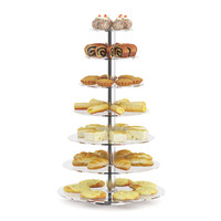 3d model glass stand rolls cakes