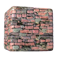 Seaside Brick Wall