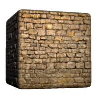 Sharp Stoned Brick Wall