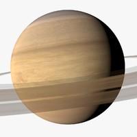 saturn moons 4k c4d