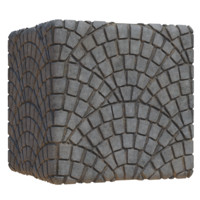 Fanned Cobblestones